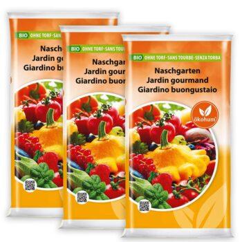 ökohum Bio Erde Naschgarten 45 Liter (3x15 Liter)